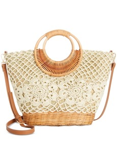 INC International Concepts Inc Cindyy Crochet Wicker Crossbody, Created for Macy's