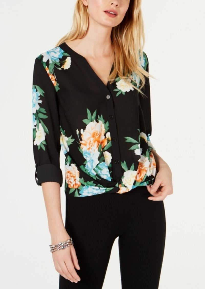 INC International Concepts Inc Cloud-Burst Floral Top, Created for Macy's