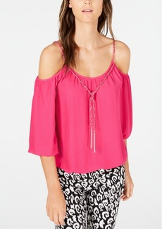 INC International Concepts I.n.c. Cold-Shoulder Chain-Detail Top, Created for Macy's