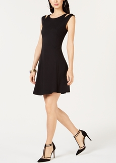 INC International Concepts I.n.c. Cold-Shoulder Fit & Flare Dress, Created for Macy's