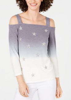 INC International Concepts I.n.c. Cold-Shoulder Ombre Star Top, Created for Macy's