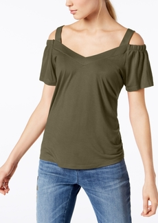 INC International Concepts I.n.c. Petite Cold-Shoulder Jersey Top, Created for Macy's
