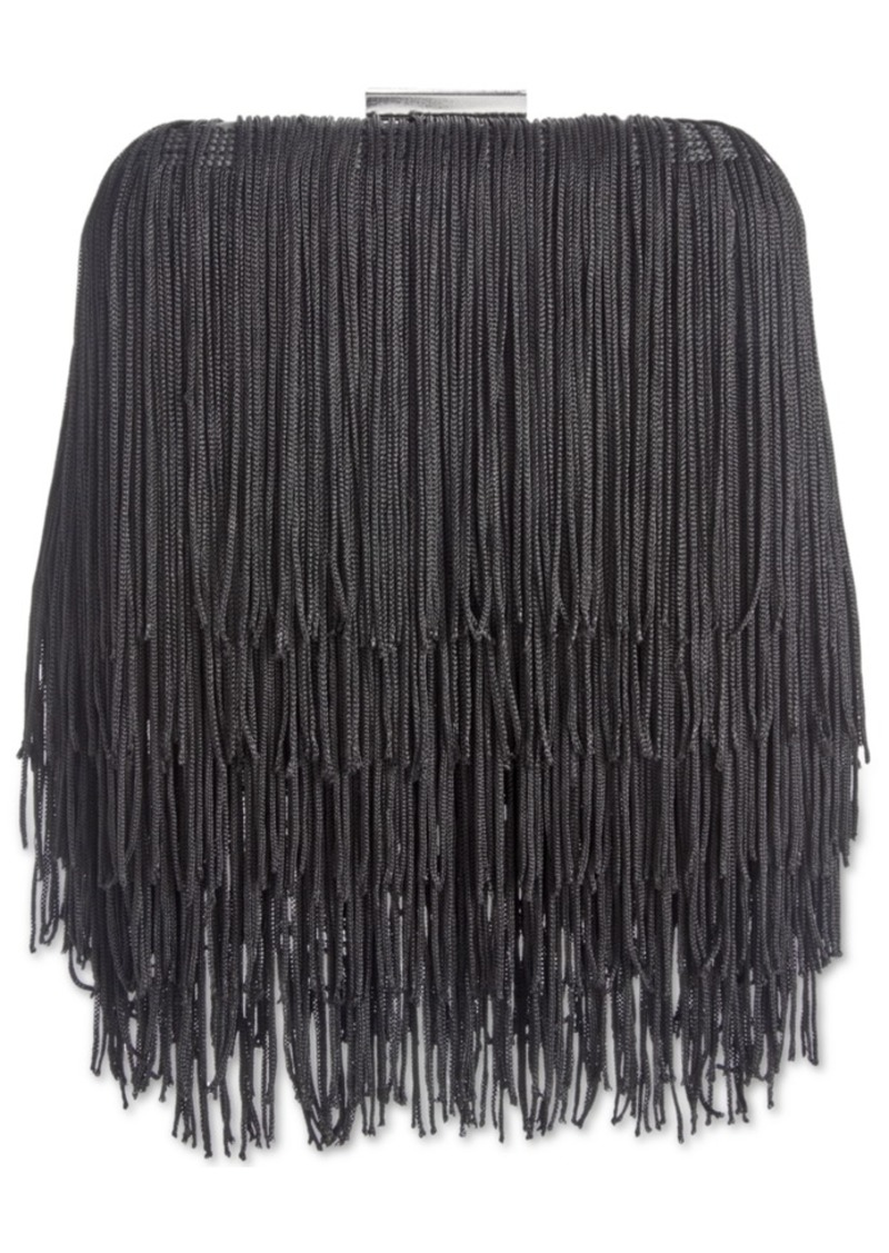 INC International Concepts Inc Colie Fringe Clutch, Created for Macy's
