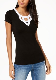 INC International Concepts I.n.c. Colorblocked Cutout T-Shirt, Created for Macy's