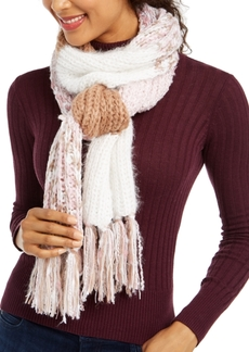 INC International Concepts Inc Colorblocked Fringe Muffler Scarf, Created for Macy's
