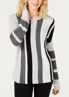 INC International Concepts Inc Colorblocked Long-Sleeve Sweater, Created for Macy's