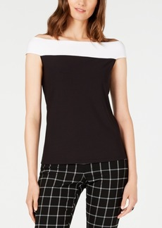 INC International Concepts Inc Colorblocked Off-The-Shoulder Top, Created for Macy's