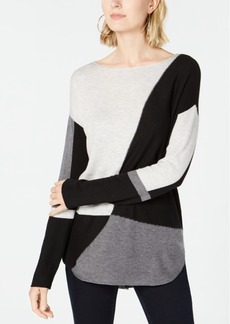 INC International Concepts Inc Petite Colorblocked Sweater, Created for Macy's