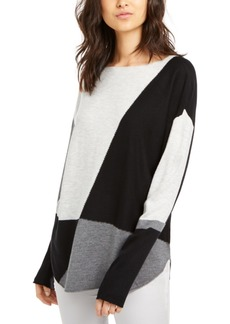 INC International Concepts Inc Colorblocked Sweater, Created for Macy's