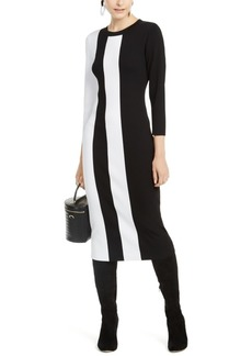 INC International Concepts Inc Colorblocked Sweater Dress, Created for Macy's