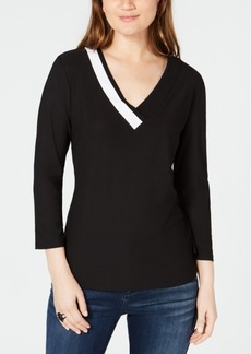 INC International Concepts I.n.c. Colorblocked Top, Created for Macy's