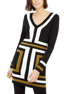 INC International Concepts Inc Colorblocked Tunic Sweater, Created For Macy's