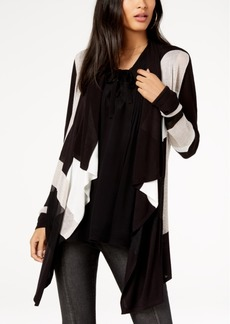 INC International Concepts I.n.c. Colorblocked Waterfall Cardigan, Created for Macy's