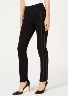 INC International Concepts Inc Contrast-Stitch Straight-Leg Pants, Created for Macy's