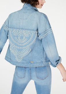 INC International Concepts I.n.c. Cotton Embellished Denim Jacket, Created for Macy's