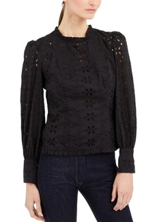 INC International Concepts Inc Cotton Eyelet Top, Created for Macy's