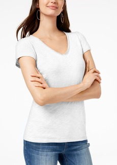 INC International Concepts I.n.c. Cotton V-Neck T-Shirt, Created for Macy's