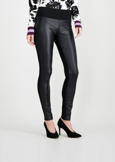INC International Concepts I.n.c. Crackle-Front Ponte-Knit Skinny Pants, Created for Macy's