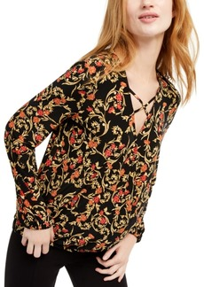 INC International Concepts Inc Crisscross Surplice Top, Created For Macy's