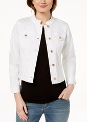 INC International Concepts I.n.c. Cropped Denim Jacket, Created for Macy's