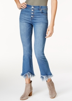 INC International Concepts I.n.c. Cropped Fringe-Trim Jeans, Created for Macy's