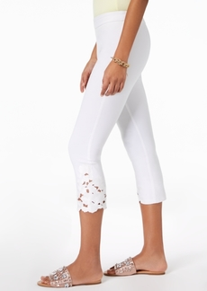 INC International Concepts I.n.c. Cropped Lace-Contrast Capri Pants, Created for Macy's