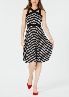INC International Concepts I.n.c. Cross-Neck Swing Dress, Created for Macy's