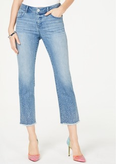 INC International Concepts Inc Allover Studded Straight-Leg Ankle Jeans, Created for Macy's