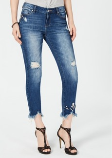 INC International Concepts I.n.c. Embellished Ripped Ankle Jeans, Created for Macy's