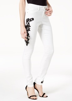 I.n.c. Petite Embroidered Skinny Jeans, Created for Macy's