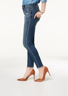 INC International Concepts Inc Studded Frayed-Hem Skinny Jeans, Created for Macy's