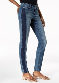 INC International Concepts I.n.c. Curvy-Fit Two-Tone Skinny Jeans, Created for Macy's