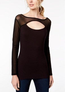 INC International Concepts I.n.c. Cutout Illusion Top, Created for Macy's