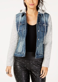 INC International Concepts I.n.c. Denim Slub Knit Sleeve Jacket, Created for Macy's