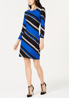 INC International Concepts I.n.c. Diagonal-Striped Shift Dress, Created for Macy's