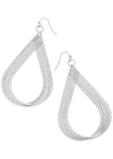 INC International Concepts Inc Diamond-Cut Multi-Row Twisted Teardrop Drop Earrings, Created for Macy's
