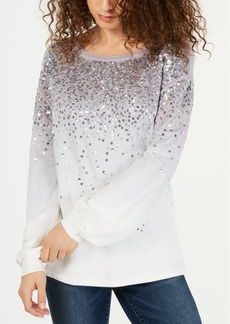 INC International Concepts I.n.c. Dip-Dyed Sequin Sweatshirt, Created for Macy's