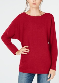 INC International Concepts Inc Dolman-Sleeve Ribbed-Knit Sweater, Created for Macy's