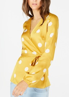INC International Concepts Inc Dotted Wrap Blouse, Created for Macy's