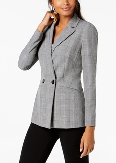 INC International Concepts I.n.c. Double-Breasted Plaid Blazer, Created for Macy's