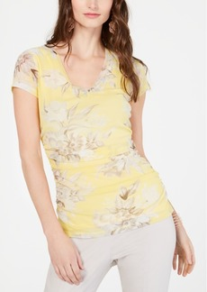 INC International Concepts I.n.c. Double-Layer V-Neck Top, Created for Macy's