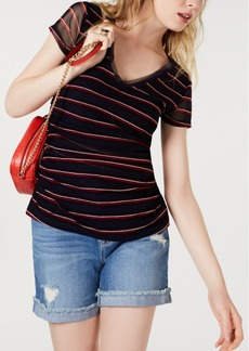INC International Concepts I.n.c. Petite Double-Layer V-Neck Top, Created for Macy's