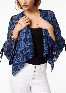 INC International Concepts I.n.c. Drape-Front Lace Jacket, Created for Macy's