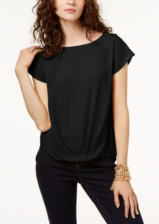 INC International Concepts Inc Draped-Hem Top, Created for Macy's