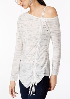 INC International Concepts I.n.c. Drawstring One-Shoulder Top, Created for Macy's