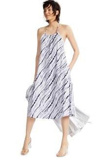 INC International Concepts Inc Earth Printed Raw-Edge Halter Dress, Created for Macy's