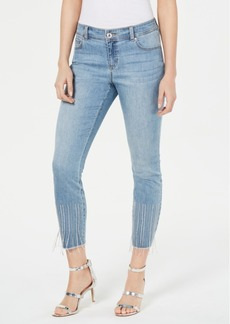 INC International Concepts Inc Embellished Cropped Jeans, Created for Macy's