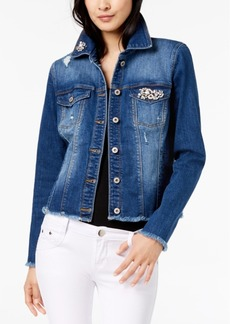 INC International Concepts I.n.c. Embellished Denim Jacket, Created for Macy's