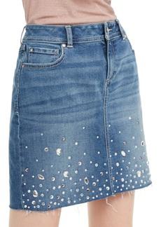 INC International Concepts Inc Embellished Denim Skirt, Created For Macy's
