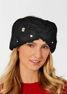 INC International Concepts I.n.c. Embellished Faux-Fur Headband, Created for Macy's